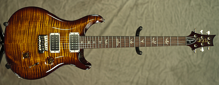 PRS Custom 24 (10, Black Gold Wrap) **SOLD**