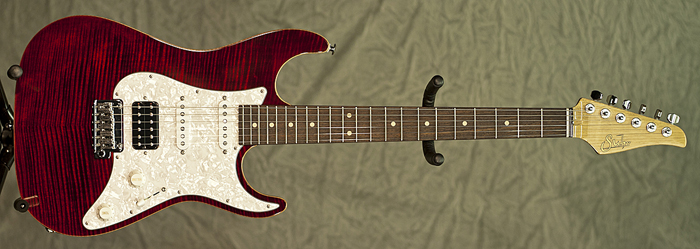 Suhr Korina Flame (Chili Pepper Red) **SOLD**